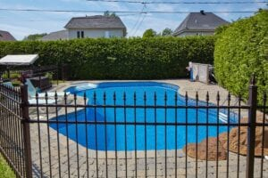 fence around a pool